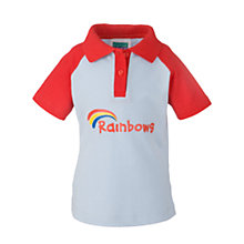 Buy Rainbows Short Sleeve Polo Shirt, Blue/Red Online at johnlewis.com