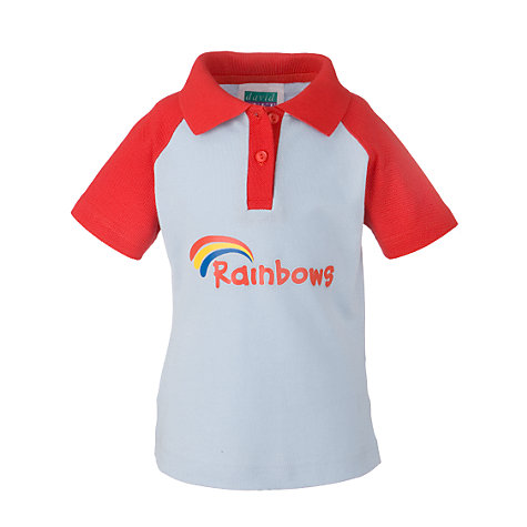 Buy Rainbows Short Sleeve Polo Shirt, Red Online at johnlewis.com