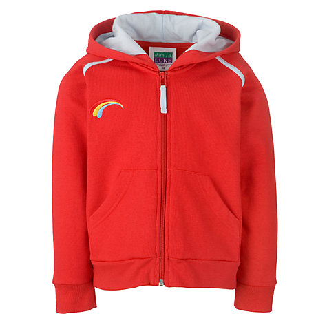 Buy Rainbows Uniform Hooded Zip Top, Red Online at johnlewis.com