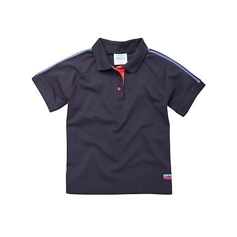 Buy Guides Uniform Short Sleeve Polo Shirt, Navy Online at johnlewis.com