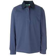 Buy Guides Uniform Long Sleeve Rugby Shirt, Blue Online at johnlewis.com