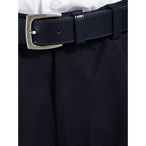 Buy John Lewis Boys' Tailored School Trousers with Belt, Navy Online at johnlewis.com