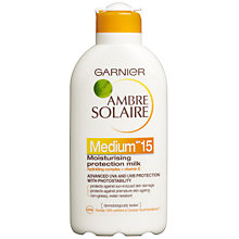 Buy Ambre Solaire Protection Milk SPF15, 200ml Online at johnlewis.com