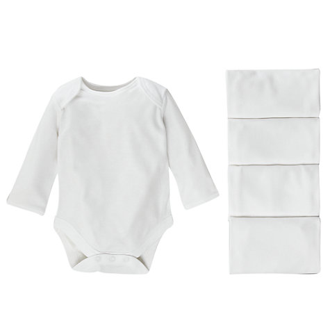 Buy John Lewis Baby Long Sleeve Bodysuits, Pack of 5 Online at johnlewis.com