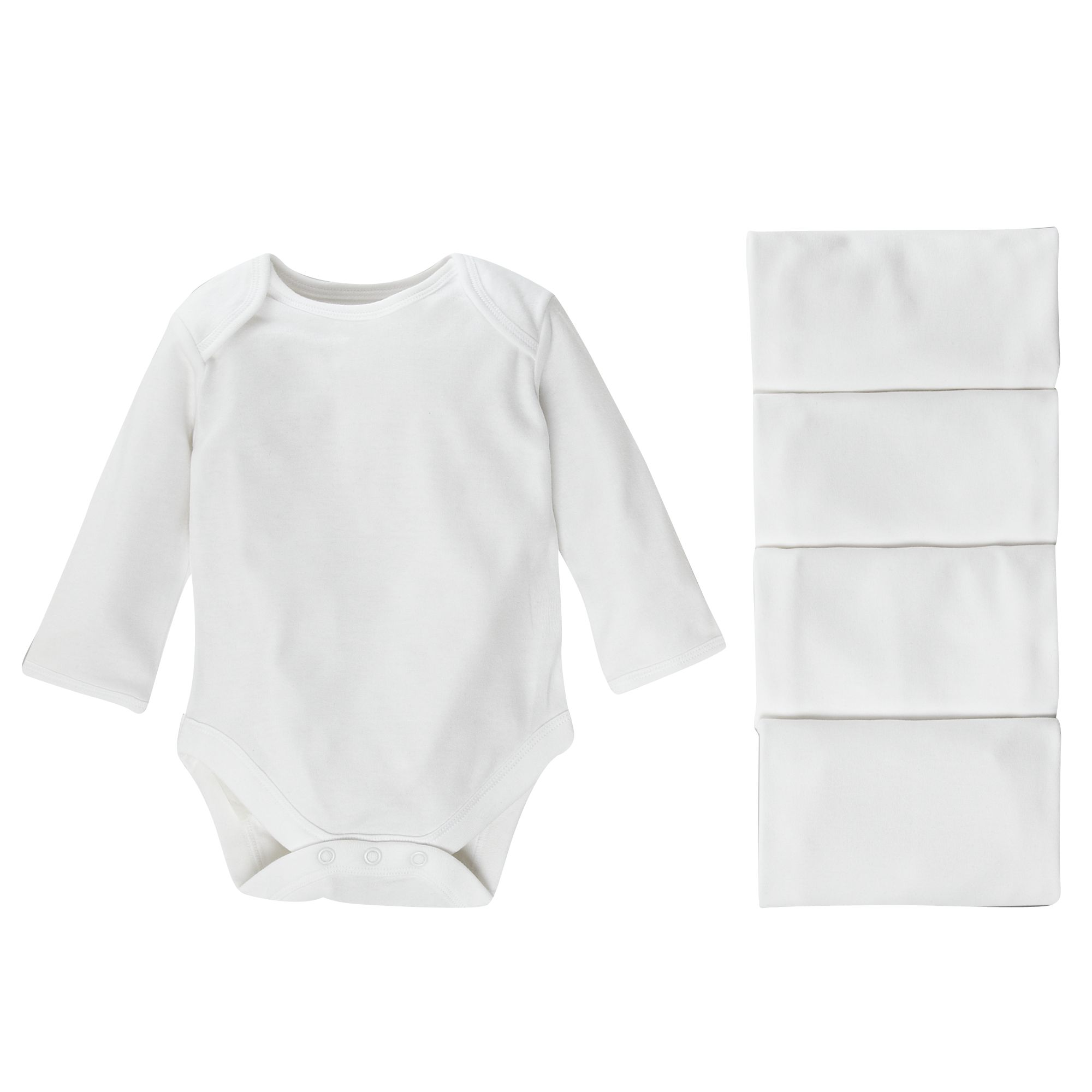 John Lewis Baby Long Sleeve Bodysuits 43142