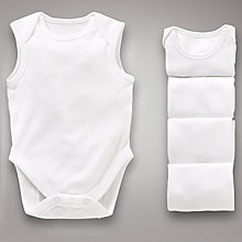 Buy John Lewis Baby Sleeveless Bodysuits, Pack of 5 Online at johnlewis.com