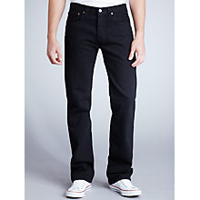 Buy Levi's 501 Original Straight Jeans, Black Online at johnlewis.com