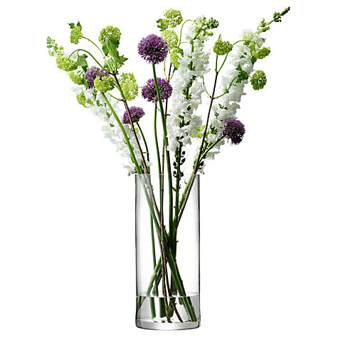Buy LSA International Glass Column Vases Online at johnlewis.com