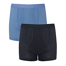 Buy John Lewis Boy Trunks, Pack of 2, Blue Online at johnlewis.com