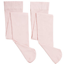 Buy John Lewis Girl Opaque Tights, Pack of 2, Pink Online at johnlewis.com