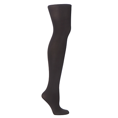 John Lewis 40 Denier Opaque Tights, Pack of 3, Black, size: Small