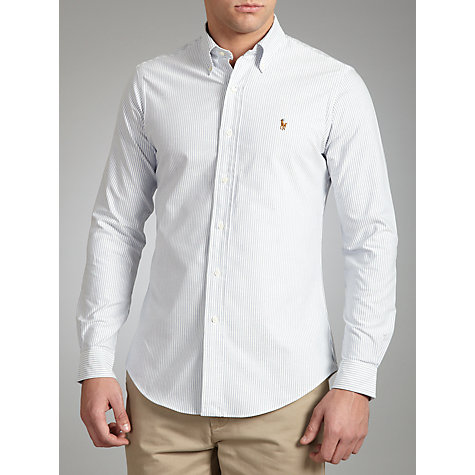 Buy Polo Ralph Lauren Custom Fit Stripe Shirt, Blue/White Online at johnlewis.com