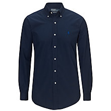 Buy Polo Ralph Lauren Custom Fit Dress Shirt, Navy Online at johnlewis.com