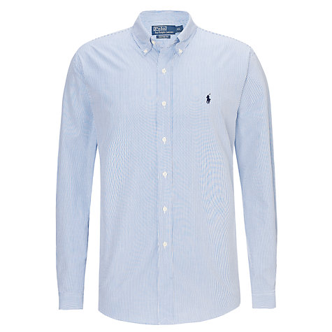 Buy Polo Ralph Lauren Custom Fit Fine Stripe Shirt Online at johnlewis.com