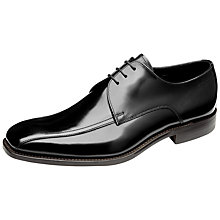 Buy Loake McQueen Leather Shoes, Black Online at johnlewis.com