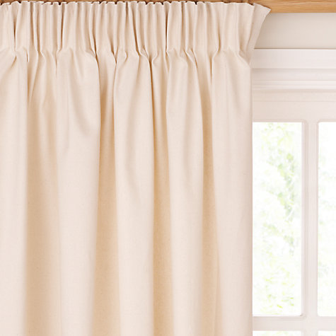 Buy John Lewis The Basics Plain Cotton Pencil Pleat Curtains Online at johnlewis.com