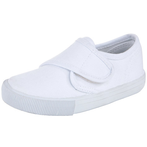 Buy John Lewis Plimsolls, White Online at johnlewis.com