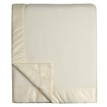 Buy John Lewis Super Merino Blanket, White Online at johnlewis.com