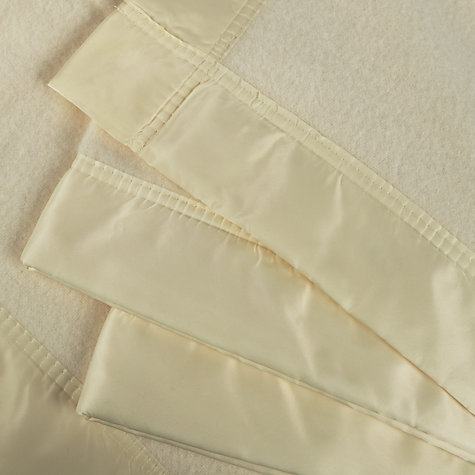Buy Hainsworth Super Merino Wool Blanket, White Online at johnlewis.com