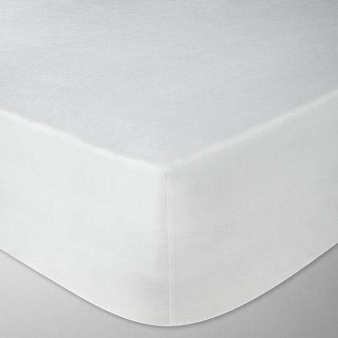 Buy John Lewis 800 Thread Count Pima Cotton Satin Fitted Sheets, White Online at johnlewis.com
