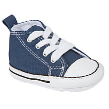 Buy Converse Chuck Taylor First Star Trainers, Navy Online at johnlewis.com