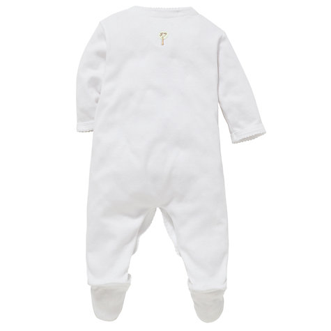 Buy John Lewis Baby Embroidered Animal Sleepsuit Online at johnlewis.com