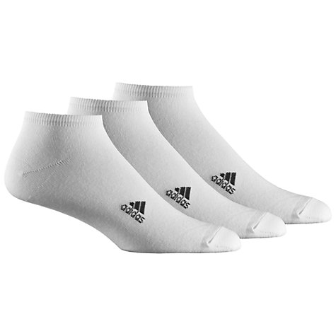 Buy Adidas Ankle Socks, Pack of 3, White Online at johnlewis.com