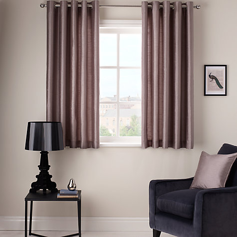 Buy John Lewis Grace Lined Eyelet Curtains, Pale Kingfisher Online at johnlewis.com