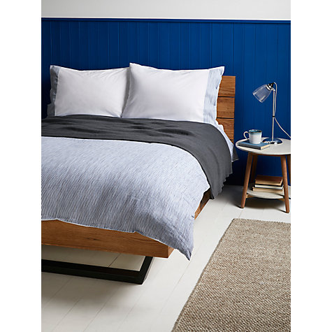 buy john lewis stonewash stripe cotton bedding john lewis. Black Bedroom Furniture Sets. Home Design Ideas