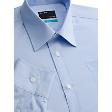 Buy John Lewis Easy Care Cotton Shirt, Blue Online at johnlewis.com
