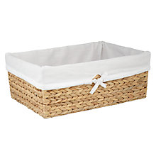 Buy Water Hyacinth Towel Baskets, Natural Online at johnlewis.com