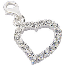 Buy Jou Jou Sterling Silver Open Heart Charm Online at johnlewis.com