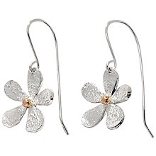 Buy Linda Macdonald Sterling Silver 18ct Gold Detail Daisies Drop Earrings Online at johnlewis.com