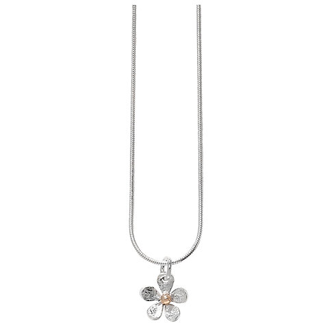 Buy Linda Macdonald Sterling Silver 18ct Gold Detail Daisy Pendant Online at johnlewis.com