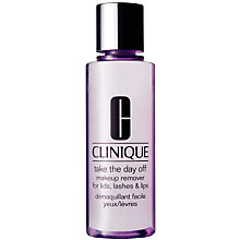 Buy Clinique Take The Day Off Makeup Remover For Lids, Lashes & Lips - All Skin Types, 125ml Online at johnlewis.com