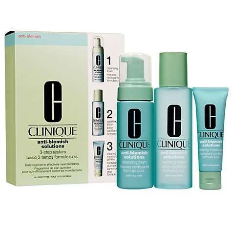 Buy Clinique Anti-Blemish Solutions 3-Step System Set Online at johnlewis.com