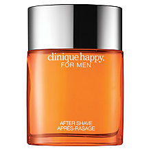 Buy Clinique Happy For Men Aftershave, 100ml Online at johnlewis.com