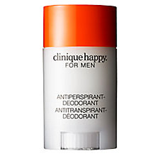 Buy Clinique Happy For Men Anti-Perspirant Deodorant Stick, 75g Online at johnlewis.com