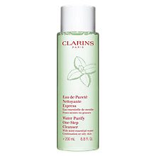 Buy Clarins Water Purify One-Step Cleanser Online at johnlewis.com