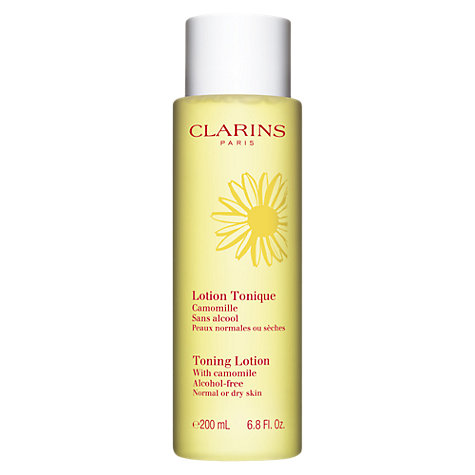 Buy Clarins Toning Lotion - For Normal/Dry Skin, 200ml Online at johnlewis.com