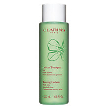Buy Clarins Toning Lotion - For Combination/Oily Skin, 200ml Online at johnlewis.com