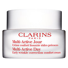 Buy Clarins Multi-Active Day Early Wrinkle Correction Cream-Dry Skin, 50ml Online at johnlewis.com