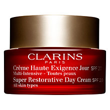 Buy Clarins Super Restorative Day Cream SPF20 Online at johnlewis.com