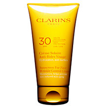 Buy Clarins Sun Wrinkle Control Cream High Protection UVB30 Online at johnlewis.com