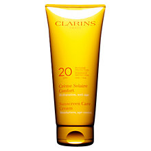 Buy Clarins Sun Care Soothing Cream Moderate Protection UVB20 Online at johnlewis.com