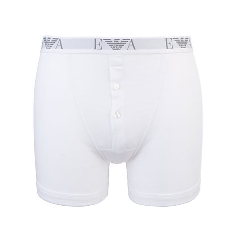 Buy Emporio Armani Button Fly Cotton Trunks, Pack of 3 Online at johnlewis.com