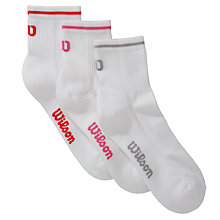 Buy Wilson Women's Ankle Tennis Socks, Pack of 3 Online at johnlewis.com