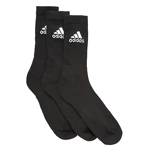 Buy Adidas Adicrew Unisex Socks, Pack of 3, Black Online at johnlewis.com