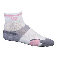 Buy Wilson ErgoStep Women's Tennis Socks, White/Grey/Pink, 4-8 Online at johnlewis.com