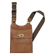 Buy Mulberry Antony Leather Satchel Across Body Bag Online at johnlewis.com
